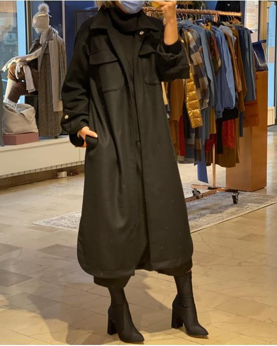 Ely Black Coat