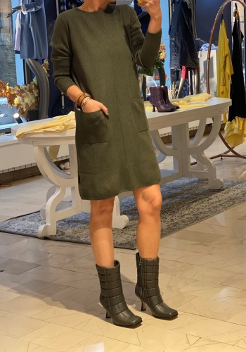 Lille Olive Green Dress