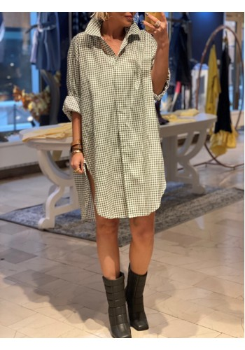 Lille Green Plaid Dress