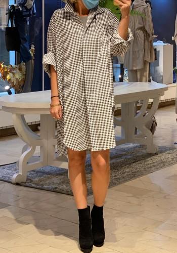 Arles Black Plaid Dress