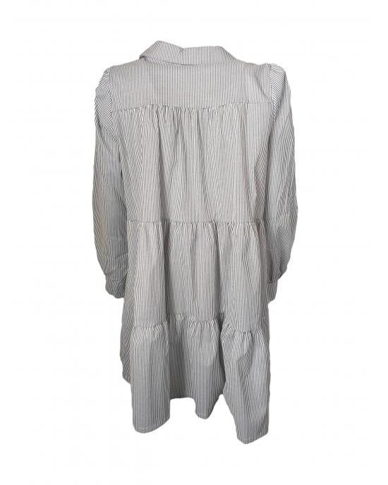 Glasgow Gray Striped Dress