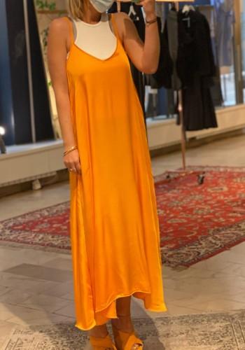 Silk Orange Dress