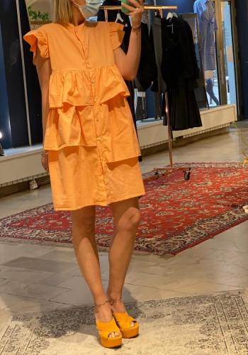 Butterfly Orange Dress