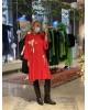 Golden Bow Red Dress
