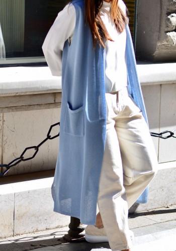 Blue Net Vest