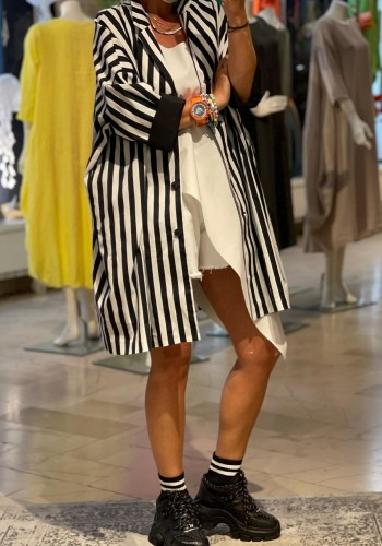 Striped Oversize Jacket