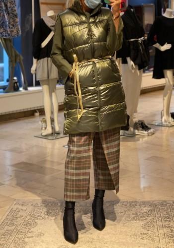 Golden Olive Long Vest