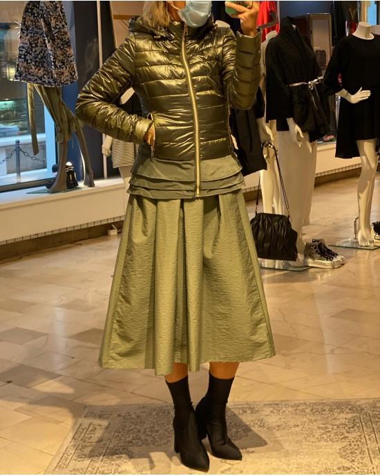Short Golden Olive Jacket