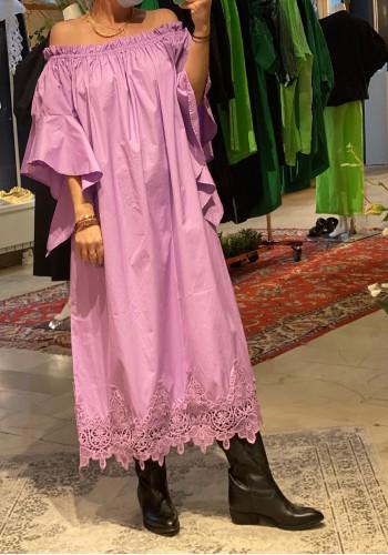 Long  Lace Lilac Dress