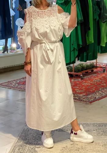 Long Lace White Dress
