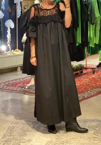 Long  Lace Black Dress