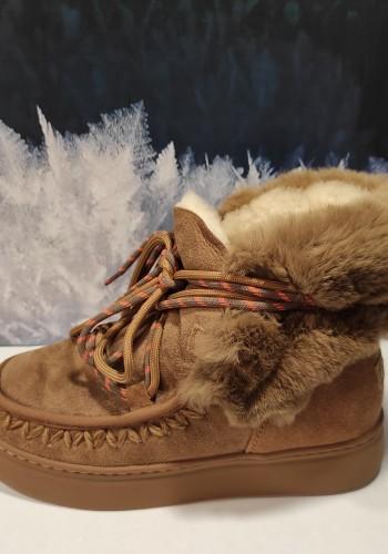 Beige Bunny Boots