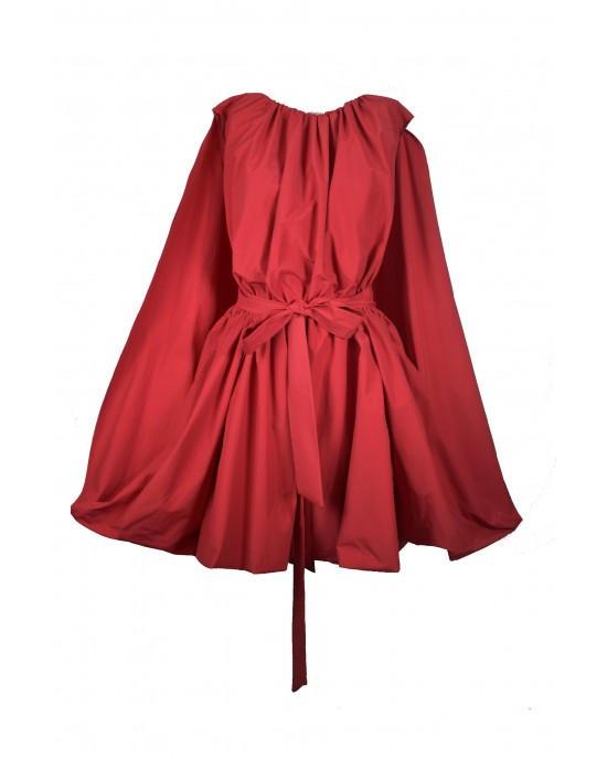 Cape Red Dress