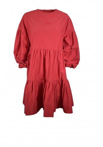 Ruffle Red Dress
