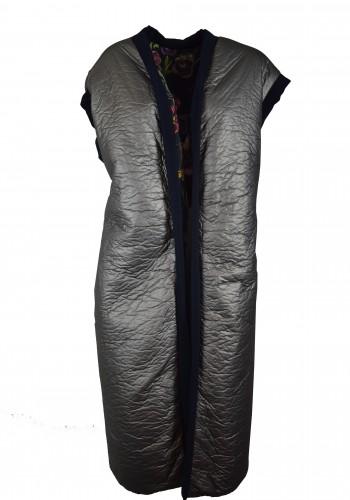 Double-face Silver Floral Vest
