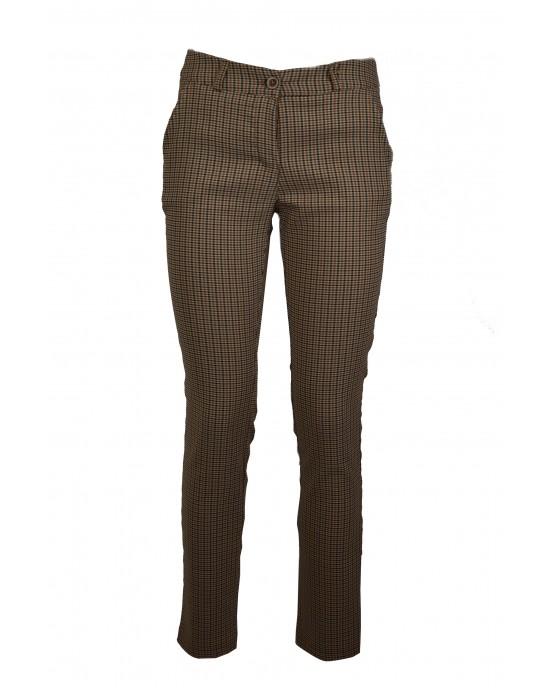 Brown Plaid Pants