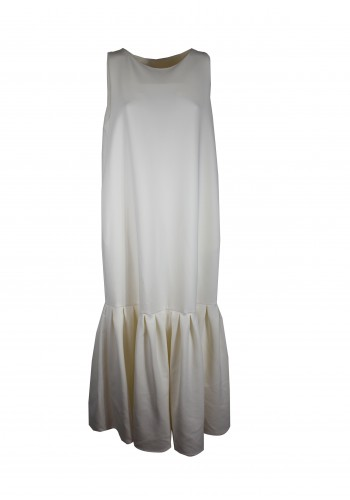 Ruffle White Maxi Dress
